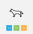 Of zoo symbol on hound outline vector image