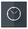 paper flat icon with a shadow clock vector image vector image
