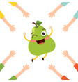 pear character vector image vector image