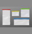 plastic zipper bags template realistic vector image vector image