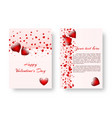 romantic pattern with red hearts vector image vector image