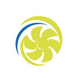 rotation water wind spinning turbine logo vector image vector image