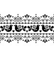 scandinavian folk seamless long pattern vector image