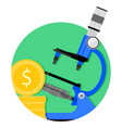 scientific funding icon vector image