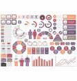 set of assorted business-related infographic vector image vector image