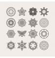 Set of ornate mandala symbols Gothic lace vector image vector image