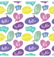 Speech bubbles with Hello and Hi words Seamless vector image vector image