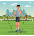 sport man lifestyle park city background vector image vector image
