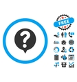 Status Query Flat Icon with Bonus vector image vector image
