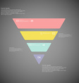 triangle infographic template consists four vector image vector image