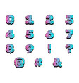 wet paint colorful numbers vector image
