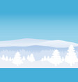 winter landscape minimal style horizon panorama vector image vector image