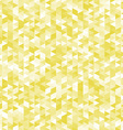 Yellow triangles pattern abstract geometric vector image vector image