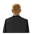 Bald man in suit from back or rear view vector image