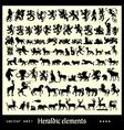 heraldic elements beasts vector image