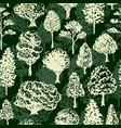 trees pattern sketch seamless tree pattern on vector image