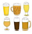 beer pints series vector image
