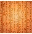 Egyptian hieroglyphics background vector image