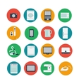 Icon set of household and computer equipment vector image