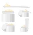 5 cartoon skin care cream elements vector image vector image