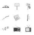 advertising set icons in monochrome style big vector image vector image