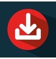 arrow download data icon vector image