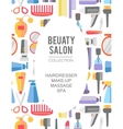 Beauty store background Hand drawn vector image