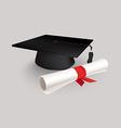 Black Graduation Cap vector image vector image