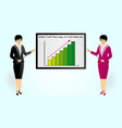 boost business business woman with glasses with a vector image vector image