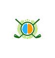 brain golf logo icon design vector image vector image