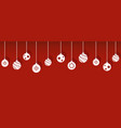 christmas balls decorations isolated hanging vector image vector image