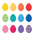 colorful easter eggs set collection vector image