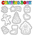 coloring book gingerbread 1 vector image