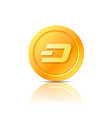 dash coin symbol icon sign emblem vector image
