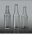 empty bottles for beer on transparent background vector image vector image