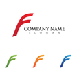 F Letter Faster the future Logo vector image vector image