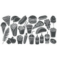 fast food glyph icon vector image