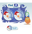 find 5 differences santa claus vector image vector image
