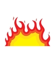 fire flame flaming burn hot heat vector image vector image