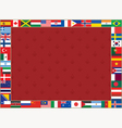 flags frame lily vector image vector image