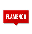 flamenco red tag vector image vector image