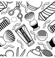 flat barber shop tool icon seamless pattern vector image vector image
