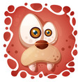 funny cute crazy dog character halloween vector image vector image