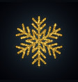gold glitter snowflake year symbol vector image vector image