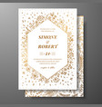 Golden wedding invitation with hand drawn