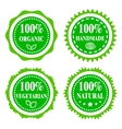 Green badges vector image vector image