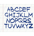 handwritten english alphabet vector image vector image