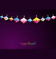 happy diwali celebration in origami paper style vector image vector image
