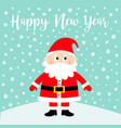 happy new year santa claus on snowdrift merry vector image vector image