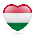 Heart icon of Hungary vector image vector image